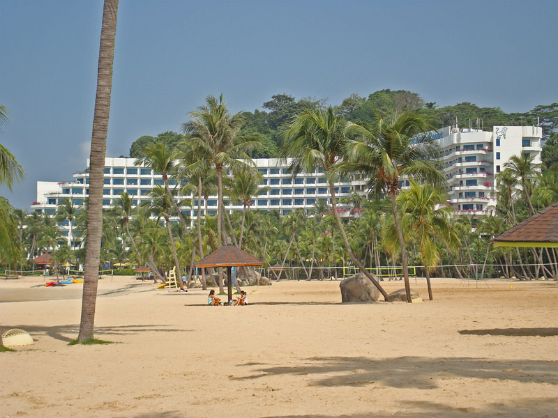 Siloso Beach and the Shangri-La Rasa Sentosa Resort