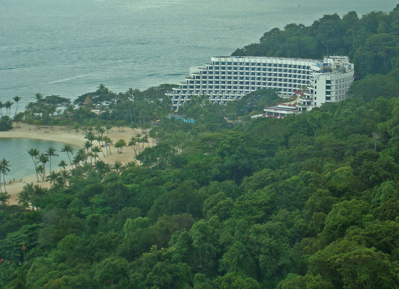 View of the Shangri-La Rasa Sentosa Resort