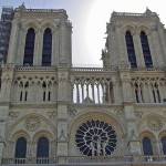 The facade of Notre Dame
