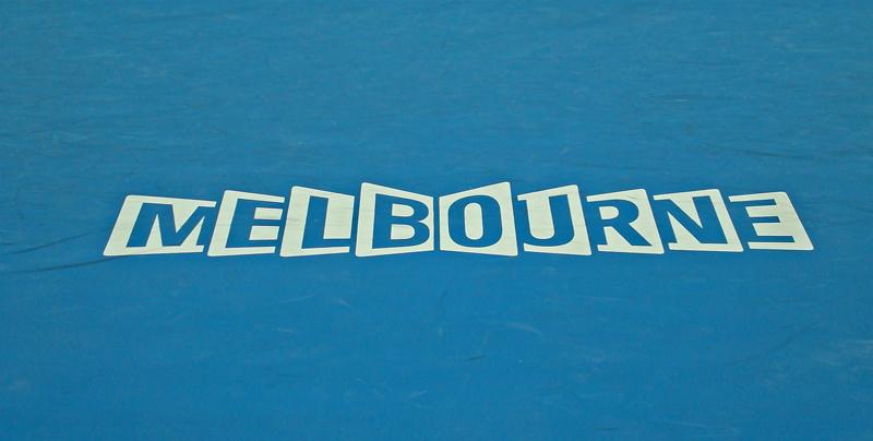Logo on the HiSense Arena Court