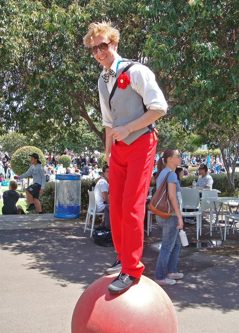 A little entertainment at the Australian Open