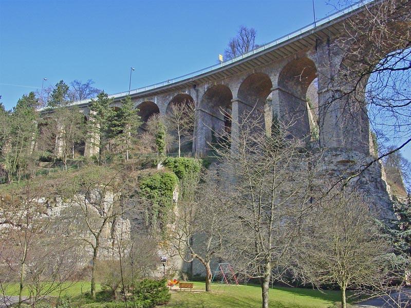 Passarelle Bridge in Luxembourg City