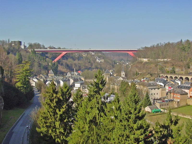 The Red Bridge in Luxembourg City