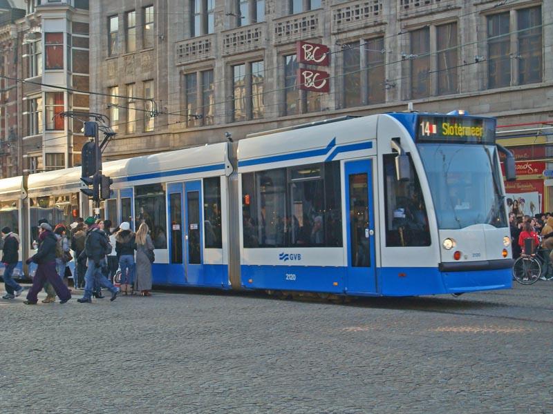 Tram 14 at Dam Square