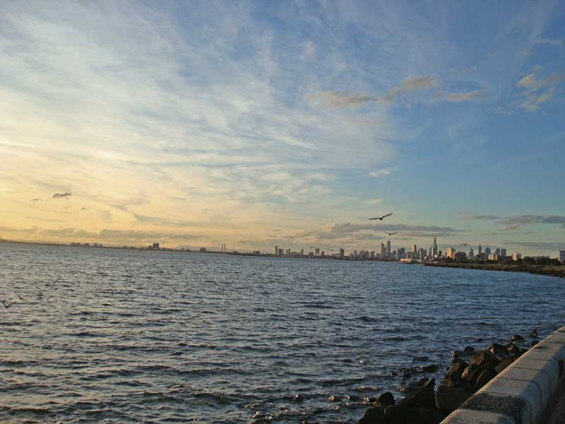 Melbourne at Sunset