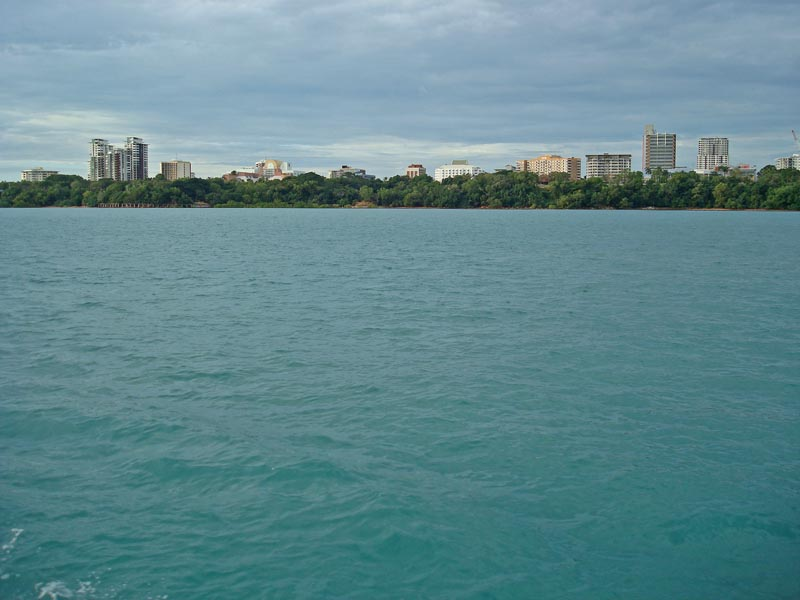 View of Darwin from just off the coast